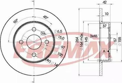 FREMAX BD-9116 - Bremžu diski interparts.lv