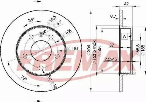 FREMAX BD-9110 - Bremžu diski interparts.lv