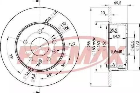 FREMAX BD-9210 - Bremžu diski interparts.lv