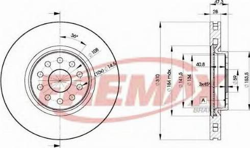 FREMAX BD-4921 - Bremžu diski interparts.lv
