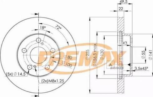 FREMAX BD-4413 - Bremžu diski interparts.lv