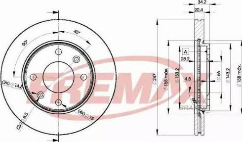 FREMAX BD-4694 - Bremžu diski interparts.lv