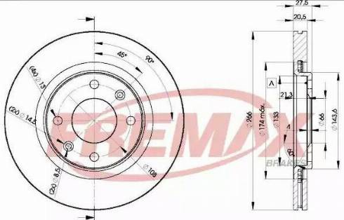 FREMAX BD-4697 - Bremžu diski interparts.lv