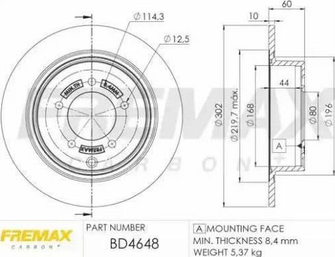 FREMAX BD-4648 - Bremžu diski interparts.lv