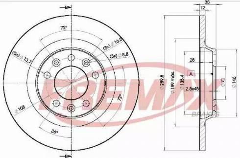 FREMAX BD-4609 - Bremžu diski interparts.lv