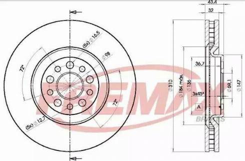 FREMAX BD-4684 - Bremžu diski interparts.lv