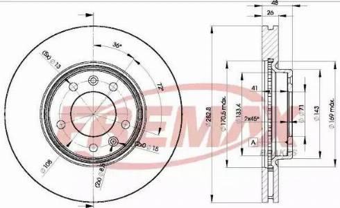FREMAX BD-4685 - Bremžu diski interparts.lv