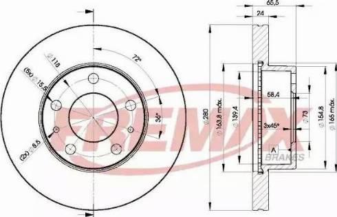 FREMAX BD-4681 - Bremžu diski interparts.lv