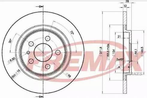 FREMAX BD-4679 - Bremžu diski interparts.lv