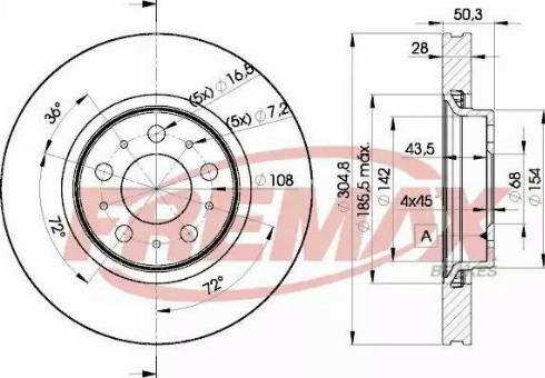 FREMAX BD-4045 - Bremžu diski interparts.lv