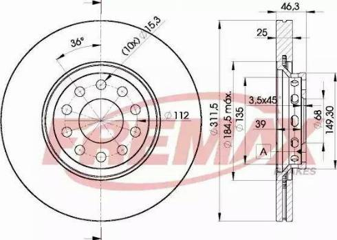 FREMAX BD-4065 - Bremžu diski interparts.lv