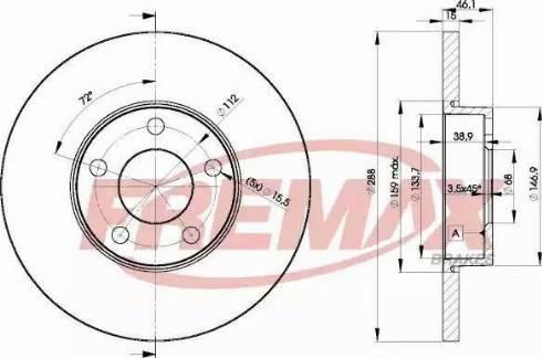 FREMAX BD-4061 - Bremžu diski interparts.lv