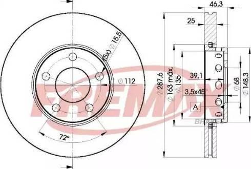 FREMAX BD-4063 - Bremžu diski interparts.lv