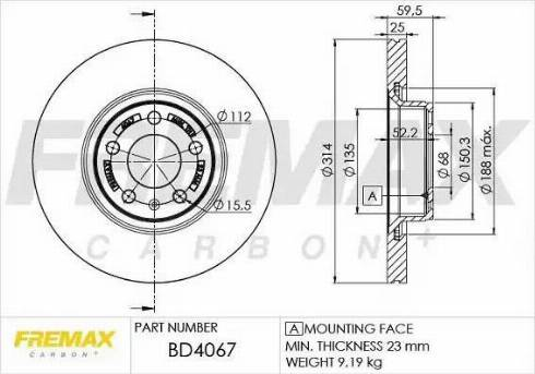 FREMAX BD-4067 - Bremžu diski interparts.lv