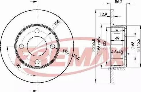 FREMAX BD-4012 - Bremžu diski interparts.lv