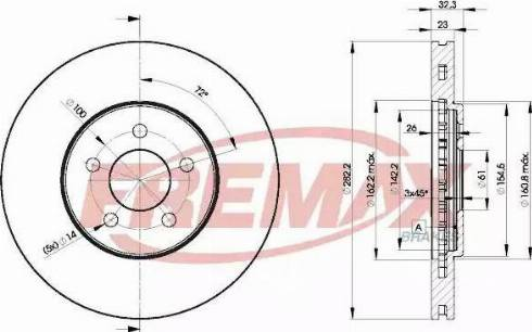 FREMAX BD-4073 - Bremžu diski interparts.lv