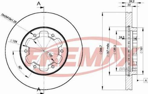 FREMAX BD-4154 - Bremžu diski interparts.lv