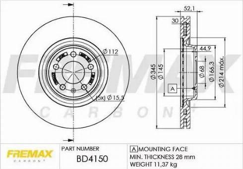 FREMAX BD-4150 - Bremžu diski interparts.lv