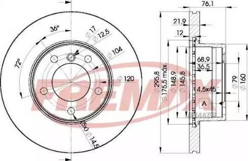 FREMAX BD-4839 - Bremžu diski interparts.lv
