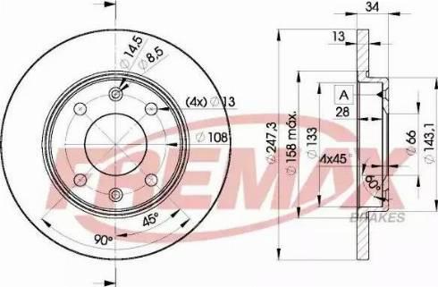 FREMAX BD-4298 - Bremžu diski interparts.lv