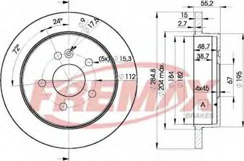 FREMAX BD-4230 - Bremžu diski interparts.lv