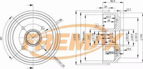 FREMAX BD-4735 - Bremžu trumulis interparts.lv