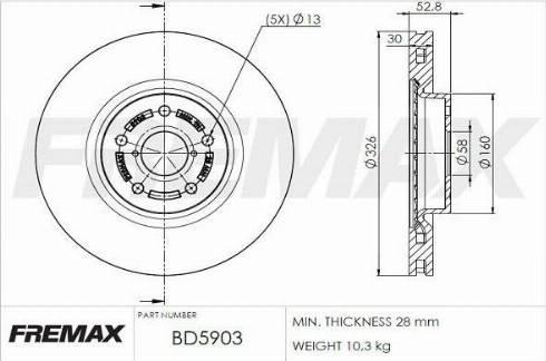 FREMAX BD-5903 - Bremžu diski interparts.lv