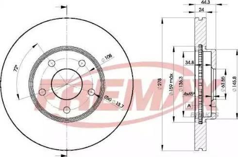 FREMAX BD-5980 - Bremžu diski interparts.lv
