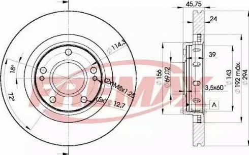 FREMAX BD-5924 - Bremžu diski interparts.lv