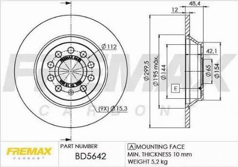 FREMAX BD-5642 - Bremžu diski interparts.lv