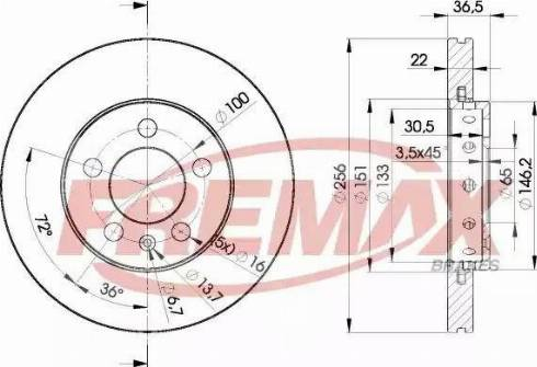FREMAX BD-5602 - Bremžu diski interparts.lv