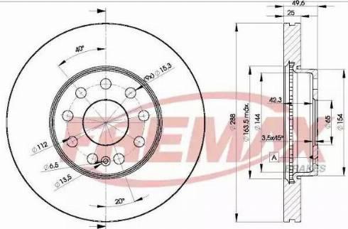 FREMAX BD-5615 - Bremžu diski interparts.lv