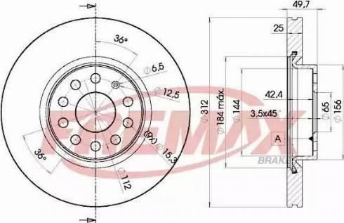 FREMAX BD-5618 - Bremžu diski interparts.lv