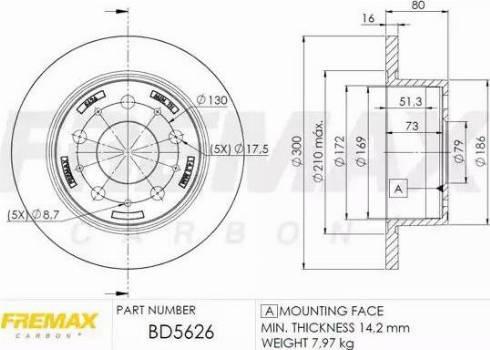 FREMAX BD-5626 - Bremžu diski interparts.lv
