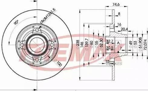 FREMAX BD-5006 - Bremžu diski interparts.lv