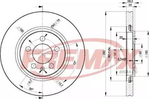 FREMAX BD-5031 - Bremžu diski interparts.lv