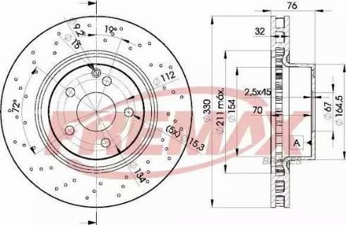 FREMAX BD-5038 - Bremžu diski interparts.lv