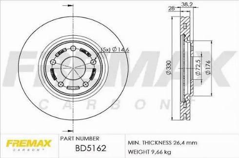 FREMAX BD-5162 - Bremžu diski interparts.lv