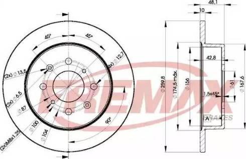FREMAX BD-5106 - Bremžu diski interparts.lv