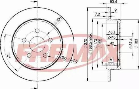 FREMAX BD-5114 - Bremžu diski interparts.lv