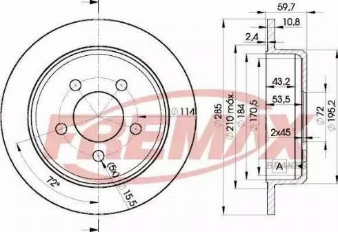FREMAX BD-5116 - Bremžu diski interparts.lv