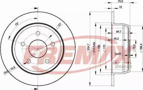 FREMAX BD-5118 - Bremžu diski interparts.lv