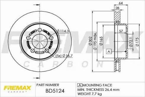 FREMAX BD-5124 - Bremžu diski interparts.lv