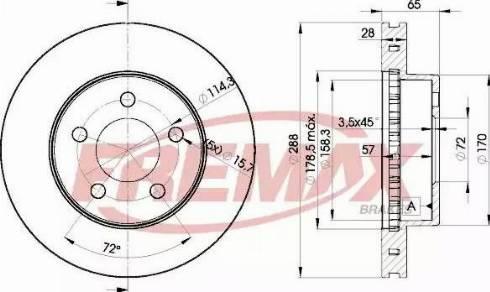 FREMAX BD-5121 - Bremžu diski interparts.lv