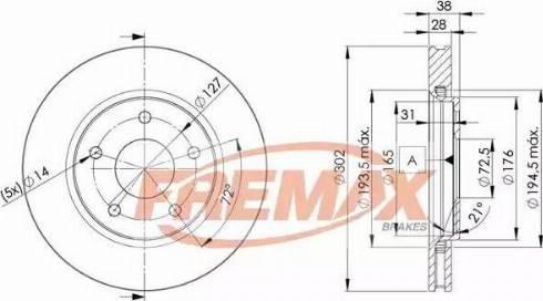 FREMAX BD-5170 - Bremžu diski interparts.lv
