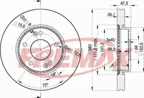 FREMAX BD-5171 - Bremžu diski interparts.lv
