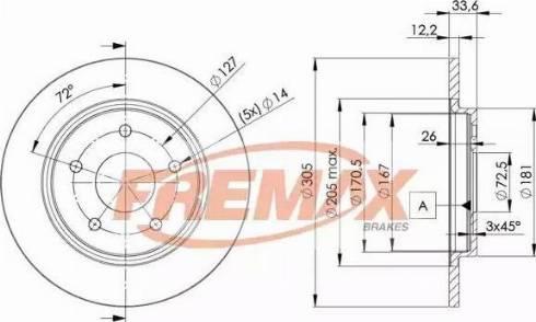 FREMAX BD-5173 - Bremžu diski interparts.lv