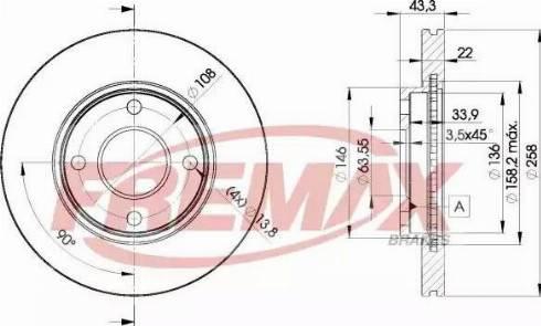 FREMAX BD-5344 - Bremžu diski interparts.lv