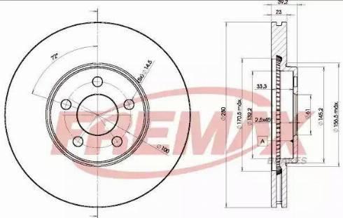 FREMAX BD-5300 - Bremžu diski interparts.lv