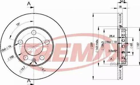 FREMAX BD-5308 - Bremžu diski interparts.lv